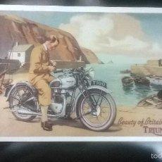 Postales: POSTAL MOTO TRIUMPH T 100-REPRODUCCION INGLESA. Lote 57860117