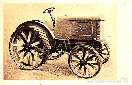 RARA POSTAL DE LA CASA FIAT - EL TRACTOR TRAFFICE AGRICOLA TIPO 702 - RURAL (Postales - Postales Temáticas - Coches y Automóviles)