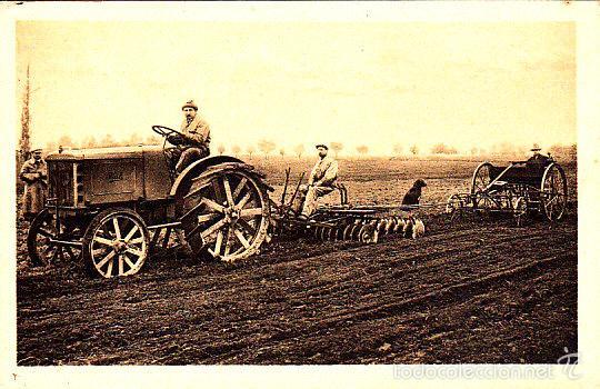 RARA POSTAL DE CASA FIAT - EL TRACTOR TRAFFICE AGRICOLA TIPO 702 ERPICATURA EXPO BARNA 1919 (Postales - Postales Temáticas - Coches y Automóviles)