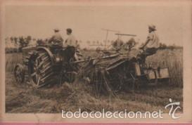 RARA POSTAL DE CASA FIAT - EL TRACTOR TRAFFICE AGRICOLA TIPO 702 EXPO BARNA 1919 - SEGADORA (Postales - Postales Temáticas - Coches y Automóviles)