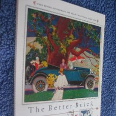 Postales: POSTAL COCHE Y AUTOMOVILES: THE BETTER BUICK. 1926. Lote 60455371