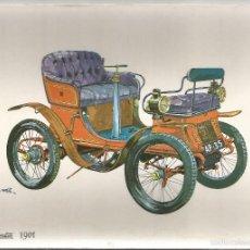 Postales: POSTAL COCHE DE EPOCA – DE DION BOUTON (1901) - ED.C.P.V.A - SIN CIRCULAR. Lote 60734627