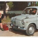 Postales: (ALB-TC-3) POSTAL NIÑOS CON SEAT 600 NUEVA. Lote 61762528
