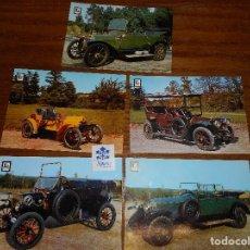 Postales: COCHES DE ÉPOCA - PEUGEOT 14 HP - 1905 - SIZAIRE ET NAUDIN - ROLLS ROYCE - FORD. Lote 61768172
