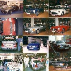 Postales: LOTE NÚMERO 34: 12 FOTOGRAFÍAS 10X15 AUTOMÓVILES MERCEDES BENZ DIFERENTES SALONES AÑOS 90 . Lote 61899300