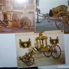 Postales: LOTE CARRUAJES MUSEO NACIONAL PORTUGAL. CM. Lote 61943088