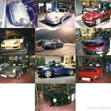 Postales: LOTE NÚMERO 35: 10 FOTOGRAFÍAS 10X15 AUTOMÓVILES PORSCHE DIFERENTES SALONES AÑOS 90. Lote 61980428