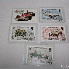 Postales: LOTE DE 5 POSTALES DE COCHES . Lote 62952176
