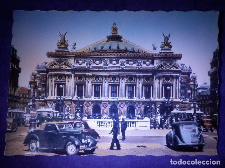 POSTAL - EUROPA - PARIS - ET SES MERVEILLES - TEATRO DE LA OPERA - ANDRÉ LECONTÉ (Postales - Postales Temáticas - Coches y Automóviles)