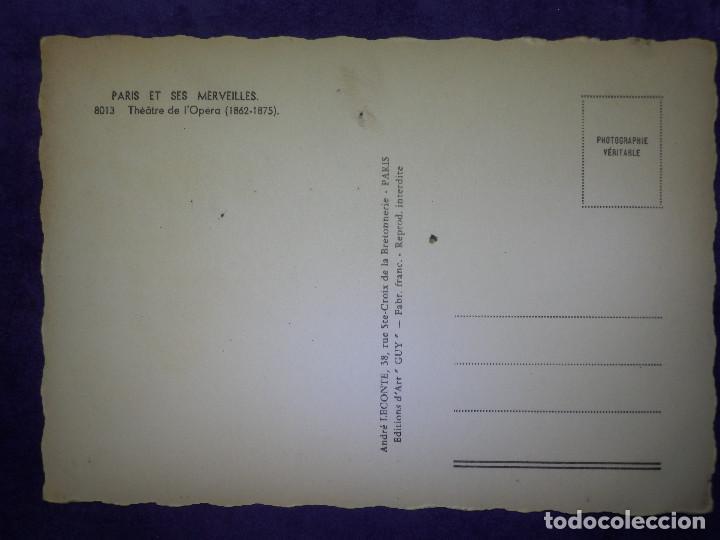 Postales: POSTAL - EUROPA - PARIS - ET SES MERVEILLES - TEATRO DE LA OPERA - ANDRÉ LECONTÉ - Foto 2 - 64066419