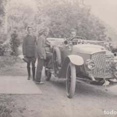 Postales: COCHE ANTIGUO. MATRÍCULA BARCELONA. B. 1-688. POSTAL BLANCO Y NEGRO, SIN CIRCULAR, C. 1915.. Lote 68360357