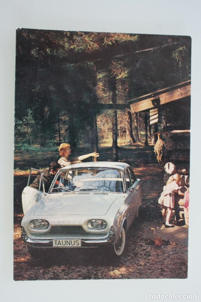 ANTIGUA POSTAL PUBLICIDAD COCHE MODELO FORD TAUNUS 17 M ALEMANIA - AÑOS 60 SIN CIRCULAR BUEN ESTADO (Postales - Postales Temáticas - Coches y Automóviles)