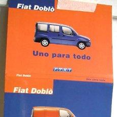 Postales: PRESENTACIÓN A LA PRENSA FIAT DOBLÒ, ESTUCHE-ACORDEÓN DE 8 POSTALES (2001). Lote 71969615