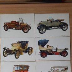 Postales: LOTE 12 POSTALES COCHES CLASICOS DE ÉPOCA - VER FOTO ADICIONAL. Lote 75040843