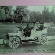 Postales: POSTAL FRANCIA COCHE DOUBLE PHAETON DE DION BOUTON. Lote 79921626