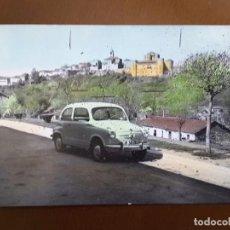Postales: PUEBLA DE SANABRIA - CASTILLO Y SEAT 600. Lote 80265573