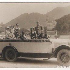 Postales: (ALB-TC-7) ANTIGUA POSTAL ESCRITA SIN SELLO AUTOBUS LOURDES LES PYRENEES AÑO 1933. Lote 83858496