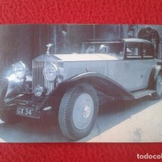 Postales: POSTAL POST CARD THE NOSTALGIA POSTCARD, VINTAGE AÑOS 1920 COCHE COCHES DE LUJO ROLLS ROYCE SEDAN. Lote 87803548