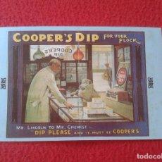 Postales: POSTAL POST CARD THE NOSTALGIA POSTCARD VINTAGE PUBLICIDAD POSTER O SIMIL COOPER´S DIP FLOCK SHEEP . Lote 87809272