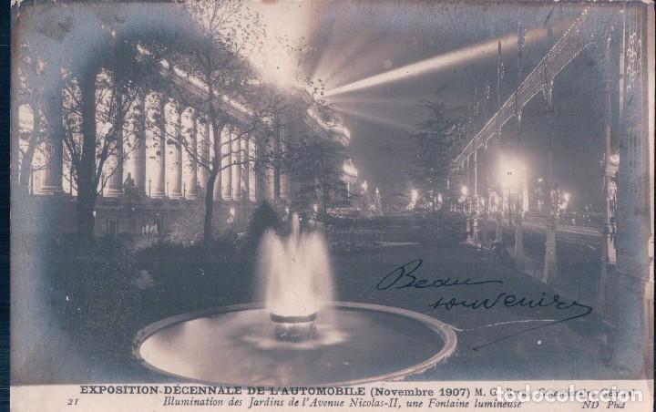 POSTAL EXPOSITTION DÉCENNALE DE L´AUTOMOBILE . 1907 (Postales - Postales Temáticas - Coches y Automóviles)