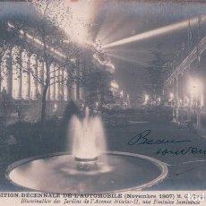 Postales: POSTAL EXPOSITTION DÉCENNALE DE L´AUTOMOBILE . 1907 . Lote 90766885