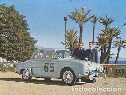POSTAL RALLY DE MONTE - CARLO 1958 DAUPHINE RENAULT (Postales - Postales Temáticas - Coches y Automóviles)