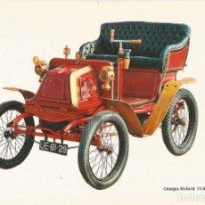 Postales: COCHE DE EPOCA GEORGES RICHARD 1900 - EDITA C.P.V.A - S/C. Lote 92216325