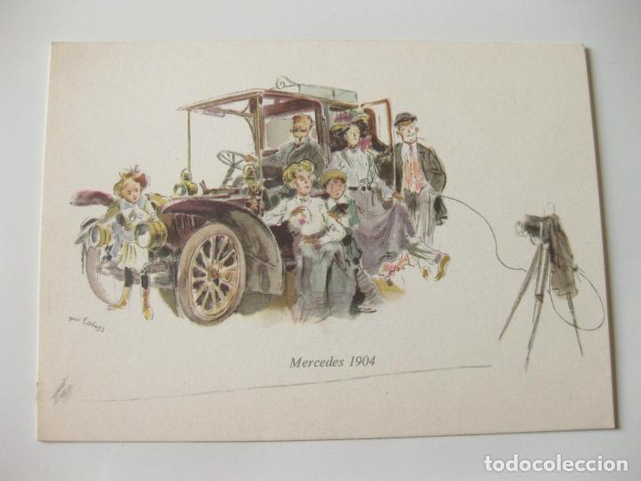 Postales: 4 POSTALES DIFERENTES Y PUBLICITARIAS DE MERCEDES BENZ - Foto 2 - 93220300