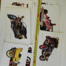 Postales: 17 POSTALES DE COCHES ANTIGUOS. Lote 95850331