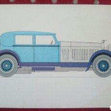 Postales: HISTORIA DE AUTOMÓVIL. HISPANA SUIZA 45. 1928. LABORATORIOS AMOR GIL. NIBIOL. Lote 96758067