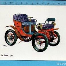 Postales: POSTAL DE COCHE DEL AÑO 1901 DE DION BOUTON SIN CIRCULAR PUBLICIDAD LA CAJA DE PENSIONES Y V.C.. Lote 97993111