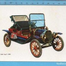 Postales: POSTAL DE COCHE DEL AÑO 1909 DE FORT TIPO T SIN CIRCULAR PUBLICIDAD LA CAJA DE PENSIONES Y V.C.. Lote 97993427