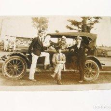Postales: FOTOGRAFIA POSTAL DE LOS AÑOS 20 DE UN FORD T PHAETON. Lote 98569451