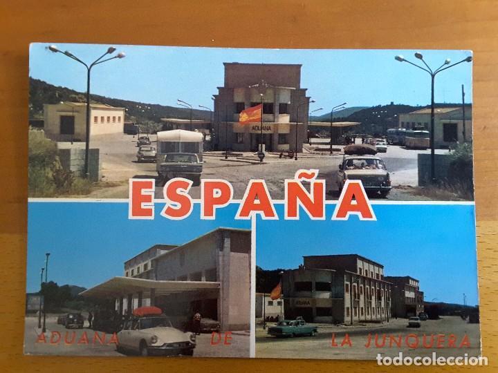 POSTAL ADUANA LA JUNQUERA - COCHES (Postales - Postales Temáticas - Coches y Automóviles)