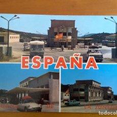 Postales: POSTAL ADUANA LA JUNQUERA - COCHES. Lote 99781295