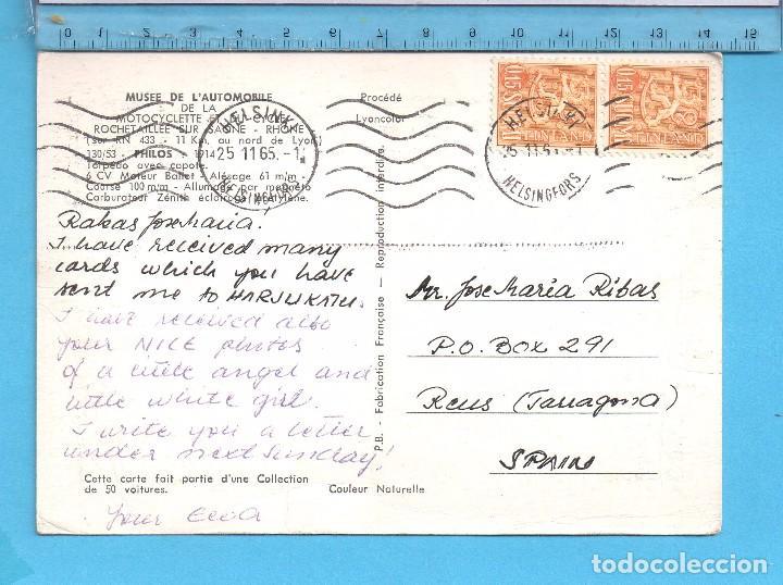 Postales: Postal del Museo de Automóvil Factoría Francesa Circulada Año 1965 - Foto 2 - 99872915