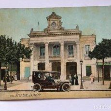 Postales: RM400 ANTIGUA TARJETA POSTAL ORIGINAL P.P.S.XX COCHE COCHES ARCACHON LA MAIRIE. Lote 100254075
