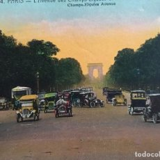 Postales: RM400 ANTIGUA TARJETA POSTAL ORIGINAL P.P.S.XX COCHE COCHES AUTOBUS PARIS 24. Lote 100254399