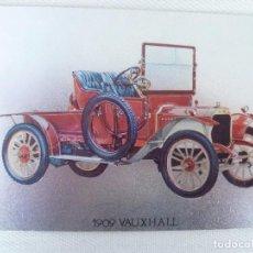Postales: POSTAL METALIZADA DUFEX DE COCHE 1909 VAUXHALL. NO CIRCULADA. Lote 101711351
