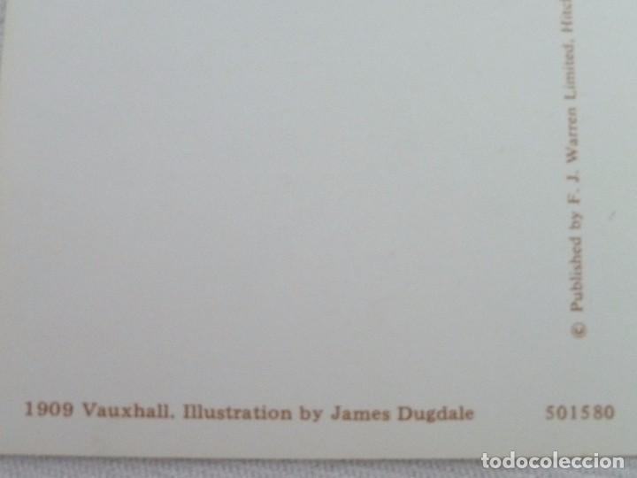 Postales: POSTAL METALIZADA DUFEX DE COCHE 1909 VAUXHALL. NO CIRCULADA - Foto 9 - 101711351