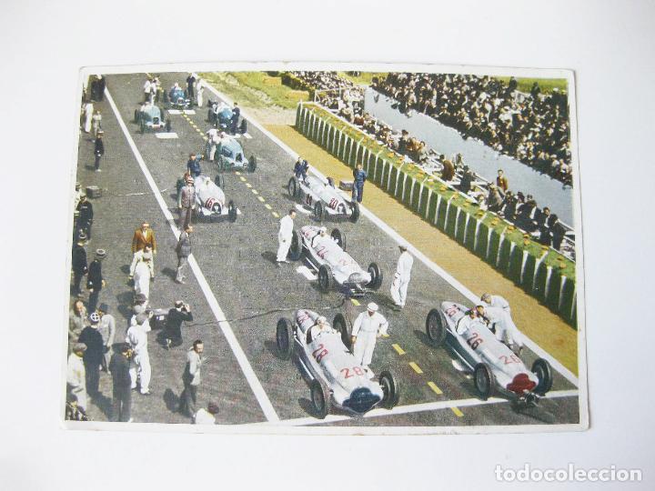 POSTAL ALEMANA DEL GRAN PREMIO DE FRANCIA MERCEDES BENZ DE 1938. W154 FRENCH RACING CAR (Postales - Postales Temáticas - Coches y Automóviles)