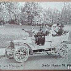 Postales: POSTAL DE COCHE DOUBLE PHAETON DE DION BOUTON TOMBOLA DE LA DECENNALE PERFECT CONSERVACION AUTOMOVIL. Lote 103724079