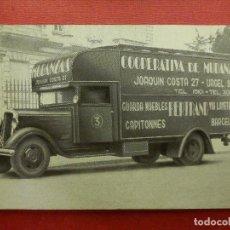 Postales: POSTAL - VEHÍCULOS - COOPERATIVA DE MUDANZAS BERTRAND - BARCELONA - AÑOS 50 - NUEVA. Lote 104464675