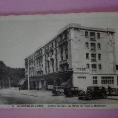 Postales: POSTAL FRANCIA BAGNOLES DE L'ORNE L'HOTEL DU PARC ( COCHES). Lote 105092618