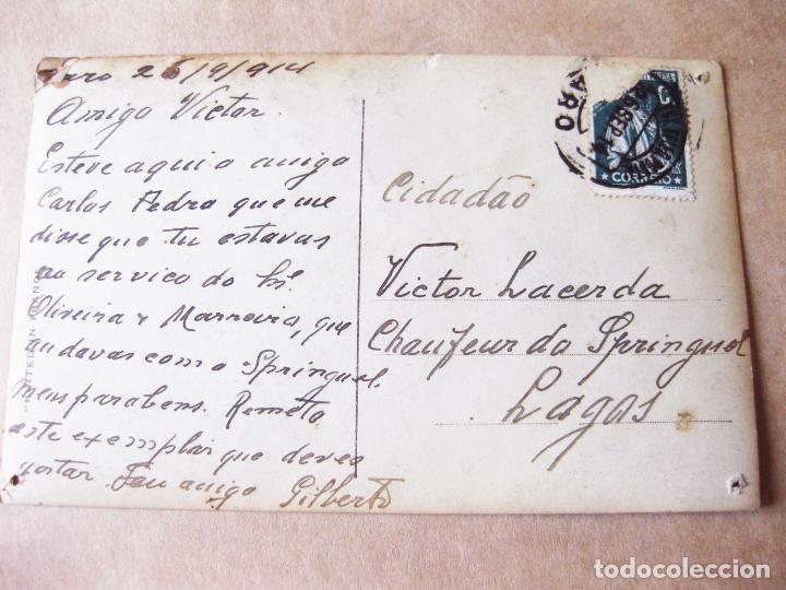Postales: FOTOGRAFIA POSTAL DE UN AUTOMOVIL ANTIGUO MARCA RENAULT - Foto 2 - 105188999