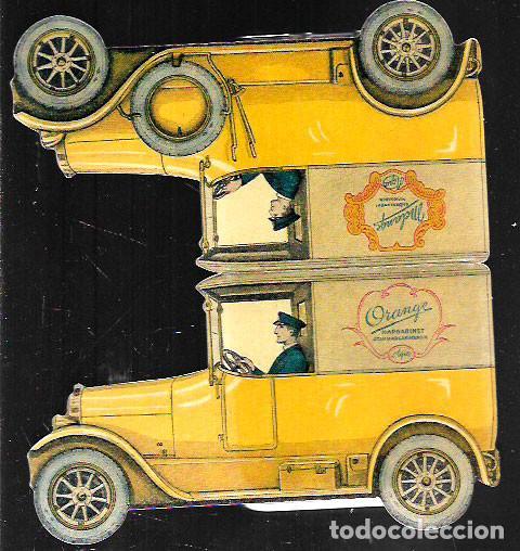 POSTAL TROQUELADA * MARGARINA , COCHE CON CHOFER * RE.EDICIÓN SUECA DE UNA POSTAL ORIGINAL AÑO 1920 (Postales - Postales Temáticas - Coches y Automóviles)