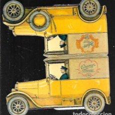 Postales: POSTAL TROQUELADA * MARGARINA , COCHE CON CHOFER * RE.EDICIÓN SUECA DE UNA POSTAL ORIGINAL AÑO 1920. Lote 105805803