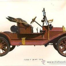 Postales: -46423 POSTAL COCHE ANTIGUO FORD T 20 HP, AÑO 1914, DE C.Y Z., IMPECABLE. Lote 112319367