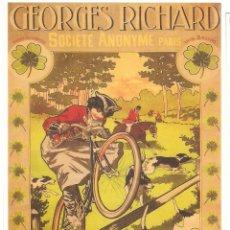Postales: PUBLICIDAD DE EPOCA, AUTOMOBILES&CYCLES, GEORGES RICHARD, S.A.PARIS, SIN CIRCULAR. Lote 114702819