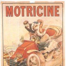 Postales: PUBLICIDAD DE EPOCA, MOTRICINE, ESENCIA PARA AUTOMOVILES, SIN CIRCULAR. Lote 114703203